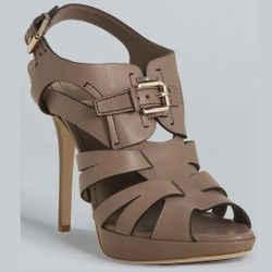 Christian Dior Ultimate Strappy Buckle Leather Sandals Platform Heels Sz 9.5 40