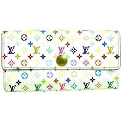 Louis Vuitton White Monogram multicolor Sarah Long Wallet 857622