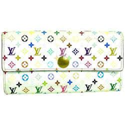 Louis Vuitton White Monogram multicolor Sarah Long Wallet 857622