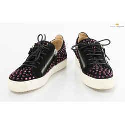 Giuseppe Zanotti Woman's Crystal Embedded Low Top Sneaker In Black
