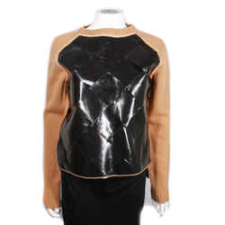 Bottega Veneta - New - Daniel Lee Woven Sweater Tan Black Leather Us 0 - 38