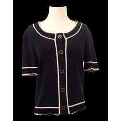 St. John Sport Knit Short Sleeved Sweater