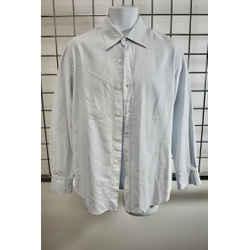 Roberto Cavalli Blue Cotton Men's Button down Shirt Size 16 or Large On Sale kp