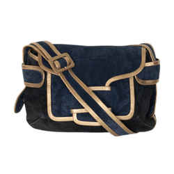 Pierre Hardy Suede Messenger Bag