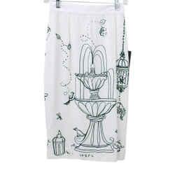 Dolce & Gabbana White Green Print Skirt sz 0