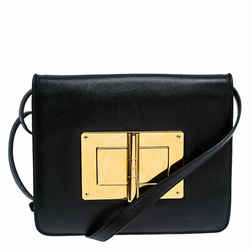 Tom Ford Black Leather Natalia Crossbody Bag