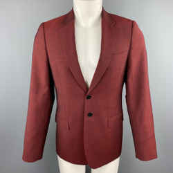Ps By Paul Smith Size 38 Heathered Burgundy Wool / Mohair Sport Coat