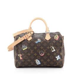 Speedy Bandouliere Bag Limited Edition Love Lock Monogram Canvas 30