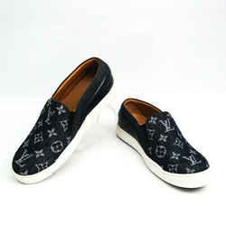 Louis Vuitton Men's Sneakers (Navy) Monogram denim slip-ons BF523586