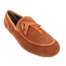 Bottega Veneta - New - Stripe Suede Loafers - Brown - Bow Tie - Mens Us 9 - 44