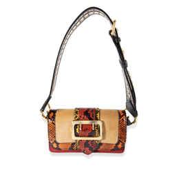 Burberry Multi-color Patchwork Snakeskin & Leather Buckle Bag