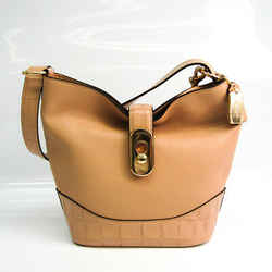 Coach AMBER DUFFLE F72808 Women's Leather,Leather Shoulder Bag Beige BF520019