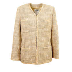 Chanel Tweed Timeless Military Jacket