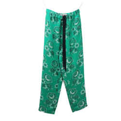 Marni Green Floral Print Viscose Pants Sz 38