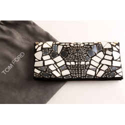 Tom Ford Mirror Embroidered Satin Clutch Bag