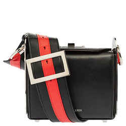 Alexander McQueen Black/Red Leather Box 16 Shoulder Bag