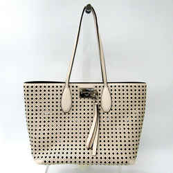 Salvatore Ferragamo AU-21 / H694 Women's Leather Tote Bag Ivory,Light P BF519588