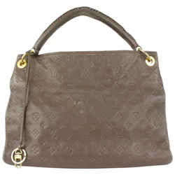 Louis Vuitton Brown Terre Leather Monogram Empreinte Artsy MM Hobo Bag 62lvs723