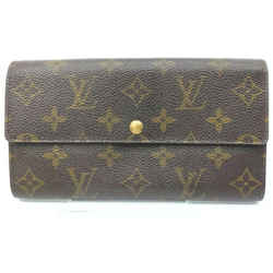 Louis Vuitton Monogram Sarah Long Wallet Portefeuille Porte Tresor 861981