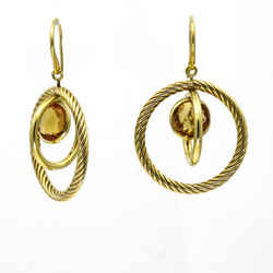 David Yurman Citrine Mobile Earrings in 18k Yellow Gold
