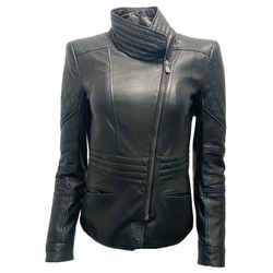 Roberto Cavalli Black Quilted Leather Moto Jacket