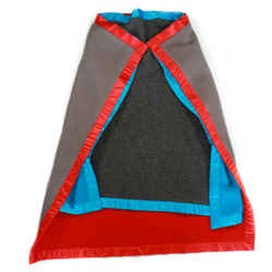 Celine - New Blanket Cape Poncho Phoebe Philo Jacket Coat Blue Red Grey One Size
