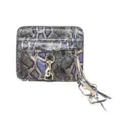 Rebecca Minkoff Blue Green Snake Skin Print Leather Ipad Case
