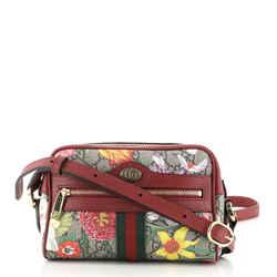 Ophidia Shoulder Bag Flora GG Coated Canvas Mini
