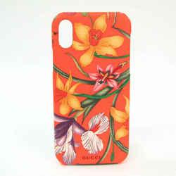 Gucci PVC Phone Bumper For IPhone X Multi-color,Orange Flower pattern 5 BF528254