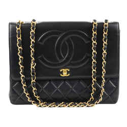 "Chanel Classic Flap XL Maxi Jumbo Quilted Matelasse Large Cc Chain Black Lambskin Leather Shoulder Bag 13""L x 3.5""W x 10""H"