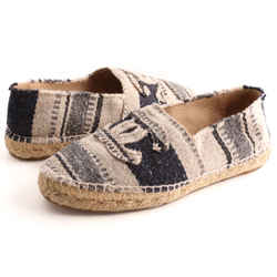 Chanel Canvas Striped Espadrille