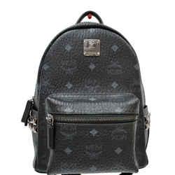 MCM  Stark Classic Small Visetos Canvas Backpack Bag Black