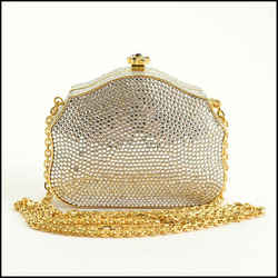 Rdc11272 Authentic Judith Leiber Cabochon Jewels Crystal Minaudiere Box Bag