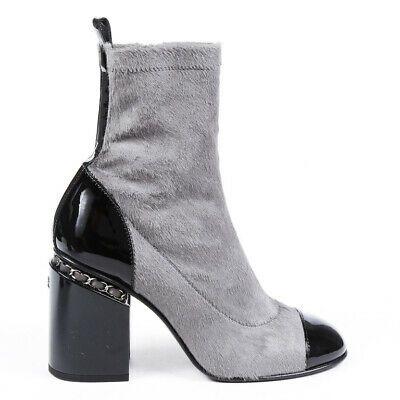 Chanel Ankle Boots Calf Hair Cap Toe SZ