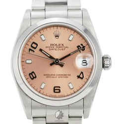 All Original Rolex Datejust 78240 31mm Salmon Dial Smooth Bezel Watch