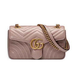 New Gucci Gg Marmont Small Leather Shoulder Bag