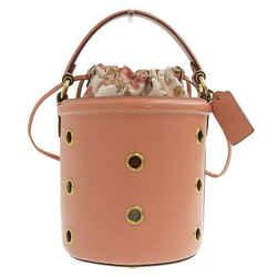 Auth Coach Coach Leather Handbag Pink 69654 Bag