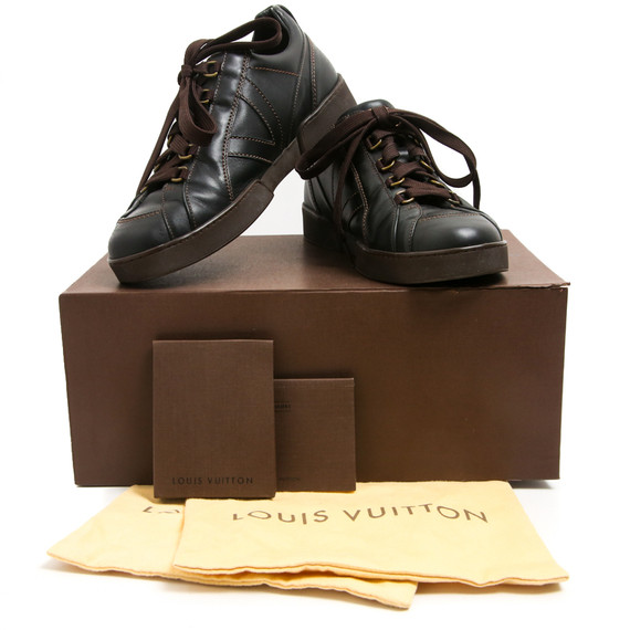 Louis Vuitton Cocoa Brown V-Side Sneakers