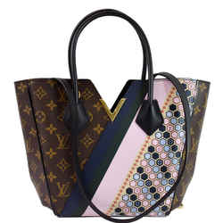LOUIS VUITTON Kimono Monogram Canvas Graphic Pattern Tote Bag Multicolor