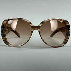 GUCCI Brown & Beige Acetate Glitter Sunglasses