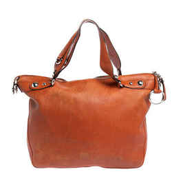 Gucci Burnt Orange Leather Large Horsebit Shoulder Bag