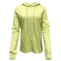 Rick Owens Lime Cotton Hoodie Tee Shirt