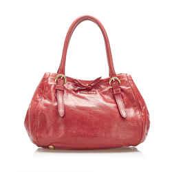Red Miu Miu Vitello Lux Handbag Bag