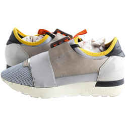 Balenciaga Gray Race Runner Sneakers