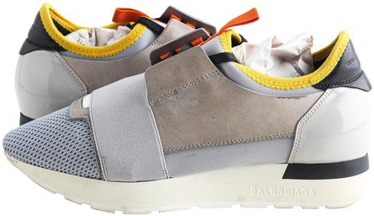 Balenciaga Gray Race Runner Sneakers