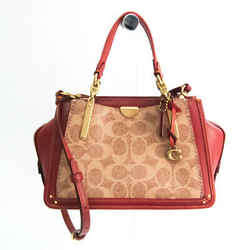 Coach Signature Dreamer 30947 Women's Leather,Coated Canvas Handbag,Sho BF530638