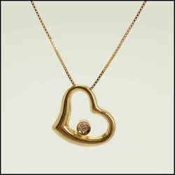 Rdc11458 Authentic Roberto Coin 18k Gold Tiny Treasure Heart W/diamond Necklace