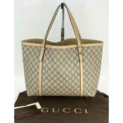 Gucci Nice GG Supreme Medium Beige Tote adjustable handles Authentic B209