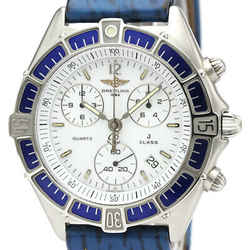 Polished BREITLING J Class Chronograph Steel Quartz Mens Watch A53067 BF517882