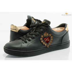 Dolce And Gabbana Heart Low Top Sneakers Size 7.5